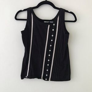 ANTHROPOLOGIE // ODILLE Black and White Tank
